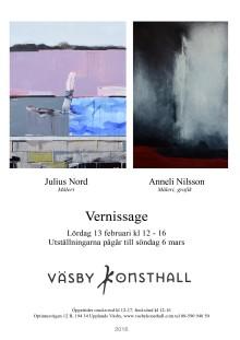 JULIUS NORD , ANNELI NILSSON - Väsby Konsthall, Vernissage lördag 13/2 2016