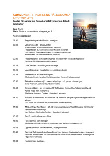 Dagsprogram för hälsoeventet den 1 juni i Båstad