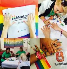JM och Mentor på Stockholm Pride