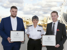 Two members of the public commended for assisting rape victim