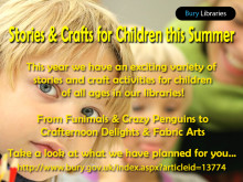 Stories and crafts for children this summer