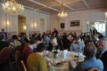 EU-parlamentariker och underklädesföretag med sikte på världsmarknaden besökte företagsfrukost
