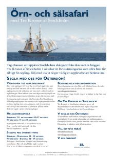 Segla med! Örn & Sälsafari med briggen Tre Kronor af Stockholm oktober 2017