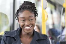 Kontaktlös betalning med bankkort på Länstrafikens bussar