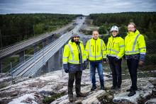 Dubbelspåret Strängnäs-Härad kan bli Årets bygge 2019