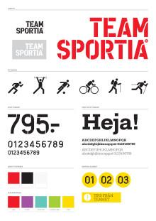 Team Sportias uppgraderade visuella identitet