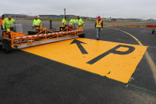 First airport in Europe to test new runway marking material
