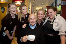 SOLIHULL COSTA CUSTOMER VISITS LOCAL STORE 364 DAYS A YEAR KNOWN BY ALL AS 'MR COSTA'