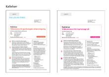Kallelsemallar för mammografi och gynekologiskt cellprov