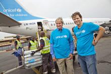Norwegian och UNICEF flyger ned nödhjälp till syriska flyktingar