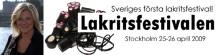 Lakritsdrottningen Elisabeth Johansson inviger Sveriges första lakritsfestival 25 april