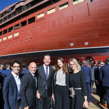 A successful launch, The Ritz-Carlton Yacht Collection Splashdown Ceremony
