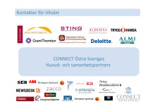 CONNECT Östra Sveriges Huvud- och Samarbetspartners