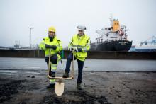 Landanläggning för flytande naturgas byggs i Göteborgs Hamn