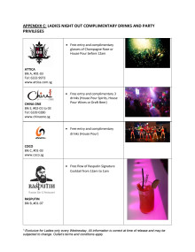 Clarke Quay Ladies Night Out Complimentary Drinks and Party Privileges