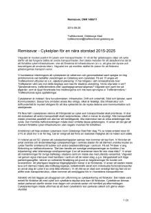 Remissvar - Cykelplan för en nära storstad 2015-2025
