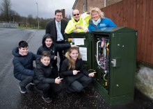 Whinhill pupils get a lesson with fibre broadband