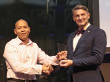 Klättertekniks Rope Access Manager prisas för sitt arbete inom IRATA