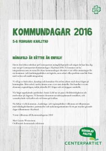 Program: Kommundagarna 2016