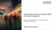 Hitachi Hyper Scale-Out Platform (HSP) w/ Pentaho Integration