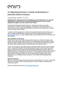 Tre københavnerfirmaer er blandt semifinalisterne i Danmarks bedste firmanavn
