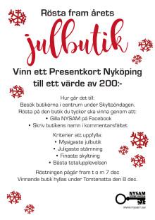 Var med och rösta fram - Årets Julbutik
