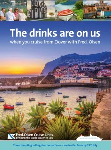 'The drinks are on us!' Fred. Olsen Cruise Lines offers FREE 'all-inclusive' upgrade on Dover sailings in September