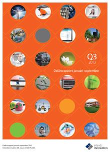 Inlandsinnovations delårsrapport januari-september och tredje kvartalet 2013