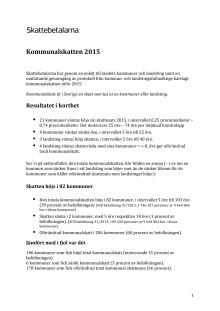Kommunalskatten 2015