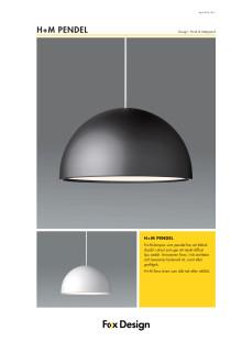 H+M-Pendel produktblad