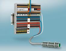 Sensor-/aktuatorklemmer med Push-in tilslutningsteknologi