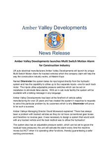 Amber Valley News Release