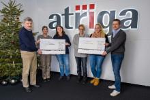 Schöne Bescherung: Wildtierhilfe Schäfer e. V. und die Tierherberge Egelsbach freuen sich über atriga-Spende
