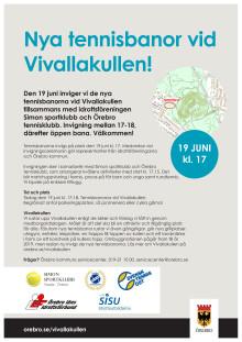 Inbjudan: Nya tennisbanor vid Vivallakullen!