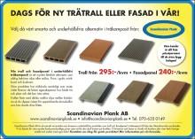 Ny annons för träkomposittrall och fasadpanel från Scandinavian Plank!