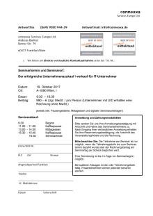 Anmeldung/Agenda. Unternehmens-zu und -verkauf, Unternehmensbewertung für IT-Unternehmer