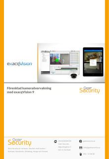 PDF: Förenklad kameraövervakning med exacqVision 9