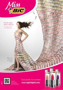 Nu er den her endelig – Miss Bic - en kollektion af eksklusive lightere til kvinder