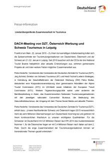 Pressemitteilung: DZT DACH-Meeting