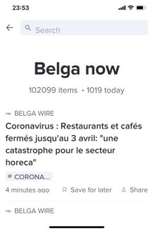 Belga en het coronavirus