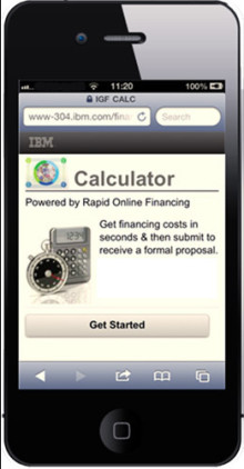 IBM lanserer mobil finansieringsapp for sine partnere - Rapid Financing® Mobile app