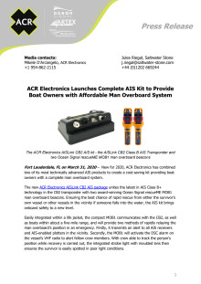 ACR Electronics Launches Complete AIS Kit to Provide Boat Owners with Affordable Man Overboard System