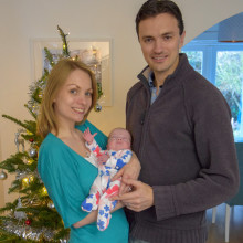 I had only just started to look pregnant when my baby girl arrived 106 days early. After spending four months in hospital we finally took her home this week just in time for Christmas.