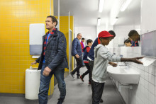 Tork PeakServe® is a game-changer in high-traffic washrooms