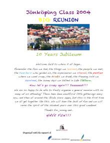 10 Years Reunion Program
