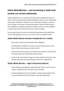 Aitellu MediaMonitor produktbeskrivning pdf