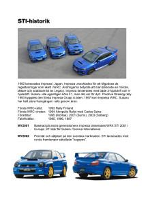 Subaru WRX STI genom åren