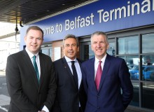 Hazzard and Ó Muilleoir tour Stena Line port operations