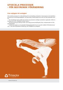 Utveckla processer - för bestående förändring  - produktblad