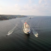 Fred. Olsen Cruise Lines' new power boats take guests 'closer' to Oslofjord and the Olsen's historic Hvitsten home